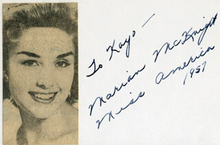 MARIAN McKNIGHT - AUTOGRAPH NOTE SIGNED 1957