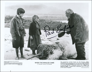 PAUL SCOFIELD - PRINTED PHOTOGRAPH SIGNED IN INK