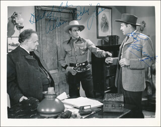 MARSHAL OF CEDAR ROCK MOVIE CAST - AUTOGRAPHED SIGNED PHOTOGRAPH CO-SIGNED BY: ALLAN LANE, ROY BARCROFT