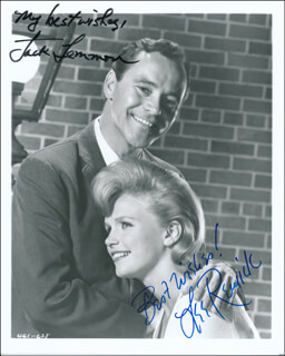 DAYS OF WINE AND ROSES MOVIE CAST - AUTOGRAPHED SIGNED PHOTOGRAPH CO-SIGNED BY: LEE REMICK, JACK LEMMON