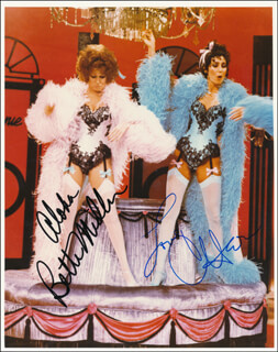 THE CHER SHOW TV CAST - AUTOGRAPHED SIGNED PHOTOGRAPH CO-SIGNED BY: CHER, BETTE MIDLER