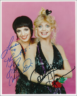 GOLDIE AND LIZA TOGETHER MOVIE CAST - AUTOGRAPHED SIGNED PHOTOGRAPH CO-SIGNED BY: GOLDIE HAWN, LIZA MINNELLI