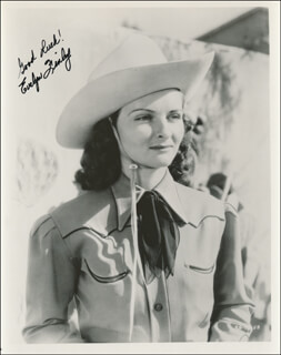 EVELYN FINLEY - AUTOGRAPHED SIGNED PHOTOGRAPH