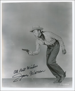 JAMES WARREN - AUTOGRAPHED SIGNED PHOTOGRAPH