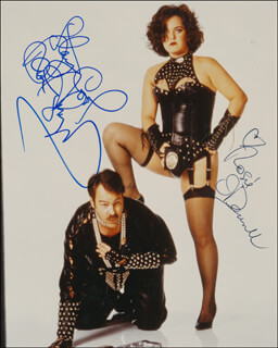 EXIT TO EDEN MOVIE CAST - AUTOGRAPHED SIGNED PHOTOGRAPH CO-SIGNED BY: DAN AYKROYD, ROSIE O'DONNELL
