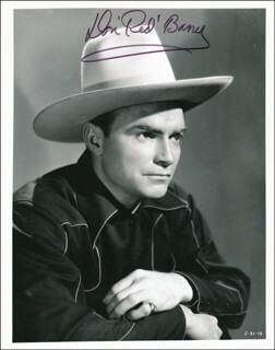 DON RED BARRY - AUTOGRAPHED SIGNED PHOTOGRAPH