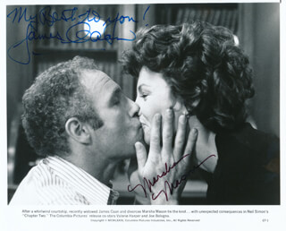 CHAPTER 2 MOVIE CAST - AUTOGRAPH SENTIMENT ON PRINTED PHOTOGRAPH SIGNED CO-SIGNED BY: MARSHA MASON, JAMES CAAN