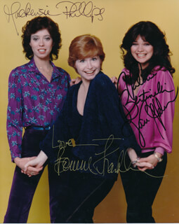 Autographs: ONE DAY AT A TIME TV CAST - AUTOGRAPH SENTIMENT ON PRINTED PHOTOGRAPH SIGNED CO-SIGNED BY: BONNIE FRANKLIN, VALERIE BERTINELLI, MACKENZIE PHILLIPS