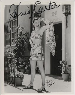 JANIS CARTER - AUTOGRAPHED SIGNED PHOTOGRAPH