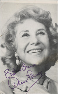 ARLENE FRANCIS - AUTOGRAPHED INSCRIBED PHOTOGRAPH