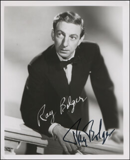 RAY BOLGER - AUTOGRAPHED SIGNED PHOTOGRAPH