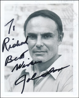 JOHN SAXON - AUTOGRAPHED INSCRIBED PHOTOGRAPH
