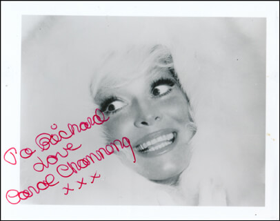 CAROL CHANNING - AUTOGRAPHED INSCRIBED PHOTOGRAPH