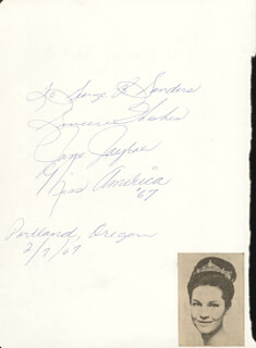 MARY STEICHEN CALDERONE - AUTOGRAPH 02/06/1967 CO-SIGNED BY: JANE JAYRAE