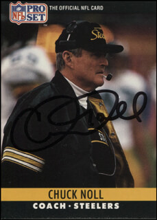 CHUCK NOLL - TRADING/SPORTS CARD SIGNED