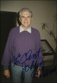 JOHNNY MANN - AUTOGRAPHED INSCRIBED PHOTOGRAPH