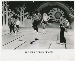 JOHNNY MANN - PRINTED PHOTOGRAPH SIGNED IN INK