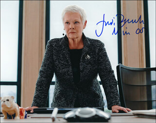 DAME JUDI DENCH - AUTOGRAPHED SIGNED PHOTOGRAPH