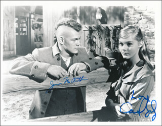 THE LIGHT IN THE FOREST MOVIE CAST - AUTOGRAPHED SIGNED PHOTOGRAPH CO-SIGNED BY: JAMES MacARTHUR, CAROL LYNLEY