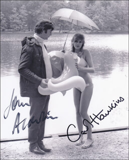 PLEASE SIR! MOVIE CAST - AUTOGRAPHED SIGNED PHOTOGRAPH CO-SIGNED BY: JOHN ALDERTON, CAROL HAWKINS