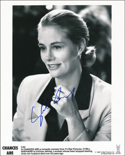CYBILL SHEPHERD - PRINTED PHOTOGRAPH SIGNED IN INK