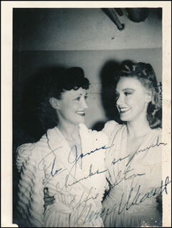 EFFIE AFTON - AUTOGRAPHED INSCRIBED PHOTOGRAPH CO-SIGNED BY: MARCY WESTCOTT