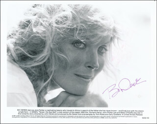 BO DEREK - PRINTED PHOTOGRAPH SIGNED IN INK