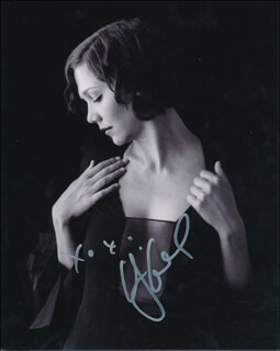 MAGGIE GYLLENHAAL - AUTOGRAPHED SIGNED PHOTOGRAPH