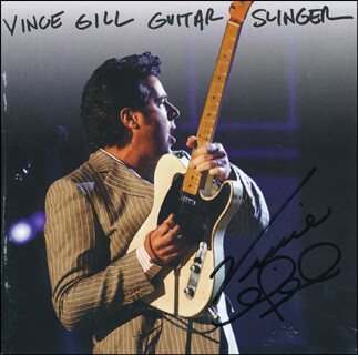 VINCE GILL - DVD/CD COVER SIGNED