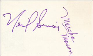 NEIL DOC SIMON - AUTOGRAPH CO-SIGNED BY: MARSHA MASON