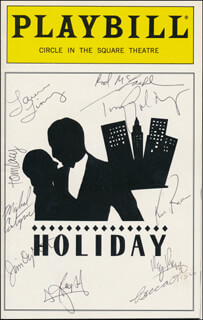 HOLIDAY PLAY CAST - SHOW BILL COVER SIGNED CO-SIGNED BY: TONY GOLDWYN, LAURA LINNEY, ROD MCLACHLAN, TOM LACY, MICHAEL COUNTRYMAN, BECCA LISH, JIM OYSTER, KIM RAVER, REG ROGERS, REESE MADIGAN
