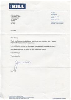 JANE WALL - TYPED LETTER SIGNED 07/12/2000