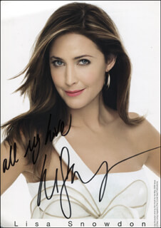 LISA SNOWDON - PRINTED PHOTOGRAPH SIGNED IN INK