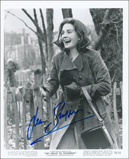 JEAN SIMMONS - PRINTED PHOTOGRAPH SIGNED IN INK