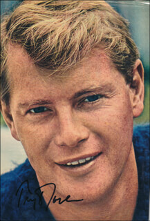TROY DONAHUE - MAGAZINE PHOTOGRAPH SIGNED
