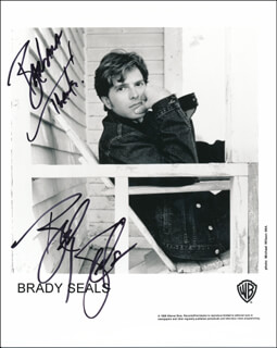 BRADY SEALS - INSCRIBED PRINTED PHOTOGRAPH SIGNED IN INK