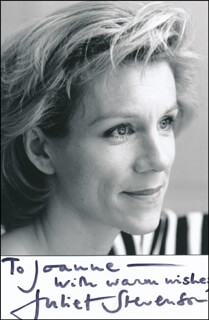 JULIET STEVENSON - AUTOGRAPHED INSCRIBED PHOTOGRAPH