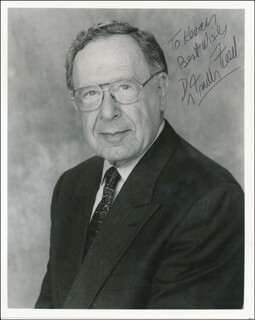 DR. FRANK FIELD - AUTOGRAPHED SIGNED PHOTOGRAPH