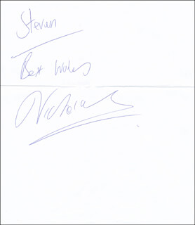 LISA MARIE VICTORIA VARON - AUTOGRAPH NOTE SIGNED
