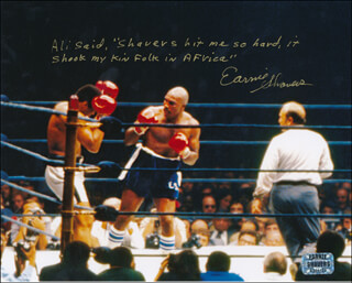 EARNIE SHAVERS - AUTOGRAPH QUOTATION ON PHOTOGRAPH SIGNED