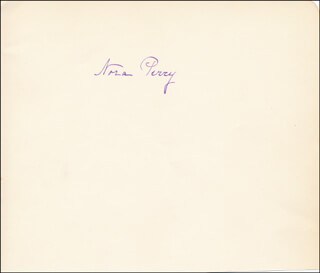 NORA PERRY - AUTOGRAPH