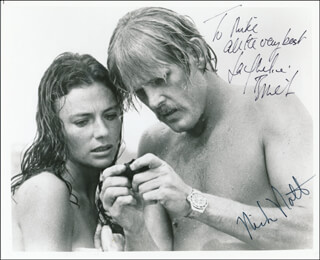 THE DEEP MOVIE CAST - AUTOGRAPHED INSCRIBED PHOTOGRAPH CO-SIGNED BY: NICK NOLTE, JACQUELINE BISSET
