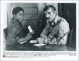 DENNIS WEAVER - INSCRIBED PRINTED PHOTOGRAPH SIGNED IN INK