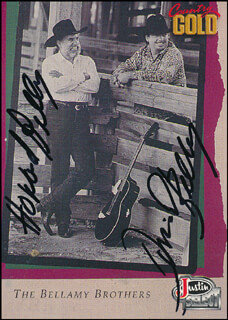 THE BELLAMY BROTHERS - TRADING/SPORTS CARD SIGNED CO-SIGNED BY: THE BELLAMY BROTHERS (DAVID BELLAMY), THE BELLAMY BROTHERS (HOWARD BELLAMY)