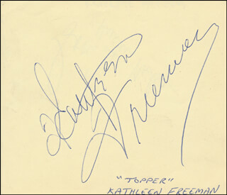 KATHLEEN FREEMAN - AUTOGRAPH CO-SIGNED BY: KRISTINE NELSON