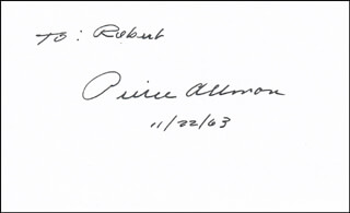 PIERCE ALLMAN - INSCRIBED SIGNATURE