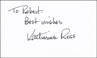 KATHARINE ROSS - AUTOGRAPH NOTE SIGNED