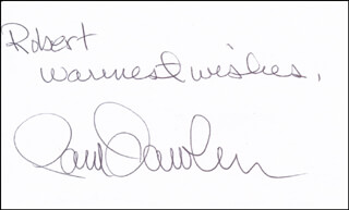 PAM DAWBER - AUTOGRAPH NOTE SIGNED