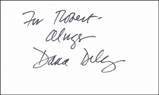 DANA DELANY - AUTOGRAPH NOTE SIGNED