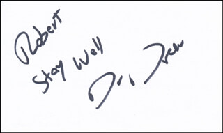 DR. DREW PINSKY - AUTOGRAPH NOTE SIGNED